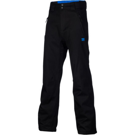 Snowboard The DC Boys' Venture Insulated pant is clean and simple, with everything you need and nothing you don't. 5K-rated waterproof fabric and 80g synthetic insulation keep you warm and dry all day so you can conquer the entire mountain, and the price tag leaves enough money left over for a new video game to enjoy after a long day on the hill. - $36.00