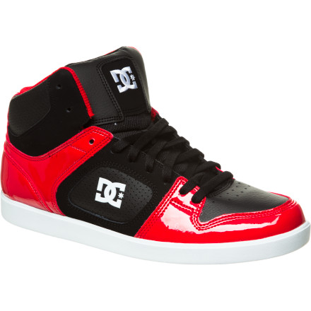 Skateboard If you're planning on going big, you want to pick up the DC Union Hi Skate Shoe. With a cupsole construction and high-top collar, the Union Hi provides the support you need to finally heelflip that twelve-stair you've had your eye on. - $45.00