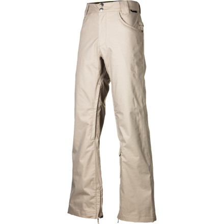 Snowboard Go for a more modern, street-style look with the DC Relay Men's Snowboard Pant. 5-pocket denim styling and a slim cut make it right at home walking around town, except it's also made from a durable 10K-rated twill fabric to keep you dry when you're shredding waist-deep powder. - $68.00