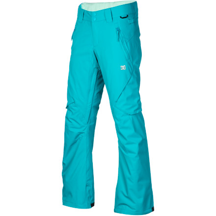 Snowboard Just because the DC Ace Slim 13 Women's Snowboard Pant gives you a feminine look when you're on the hill, doesn't mean you can't shred hard in them. The midweight twill fabric is durable so you don't have to worry about ripping them when you take a few slams, and 40g insulation adds some low-profile warmth because you're always out there, even when the weather is less than ideal. - $60.00