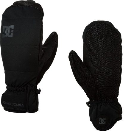 When winter really kicks it up, fight back with the super-warm DC Lear Mitten. The Lear has internal finger channels that help to manage moisture and clamminess, so you stay warm and dry long after the rest of the riders have called it a day. - $28.00