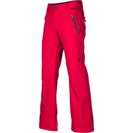 Snowboard The DC Women's Gallary Pant offers everything that the band of women DC riders wanted in a pant; a medium rise, skinny ergonomic fit tapering at the knee, a slight flare over the boot, and of course, 10K-rated waterproof performance and fully taped seams. - $90.00