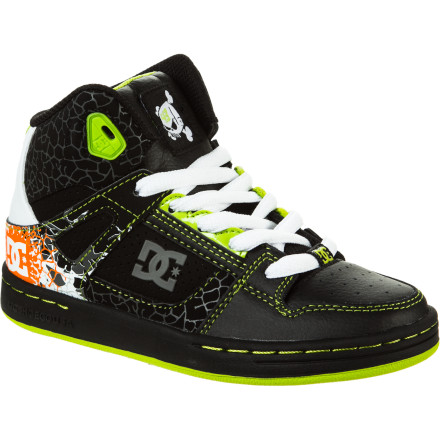 Skateboard Go big with the DC KB Rebound Boys' Skate Shoe. Cushy cupsole construction and a supportive mid-top padded collar make it perfect for skating big-boy spots and showing the older kids what's up. - $35.75
