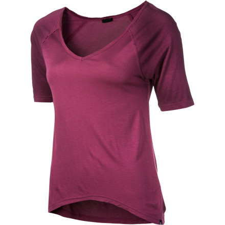 Whether it's a rent-a-movie-and-eat-ice-cream night or a poppin' party on a Friday, you'll look and feel good in the soft and comfy DC Ragdoll Women's 3/4-Sleeve Shirt. - $15.40