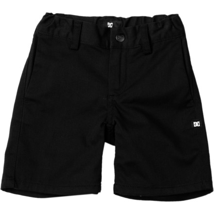 Skateboard Get him to start rocking the skate style early with the DC Worker Little Boys' Short. It won't be long until he's kickflipping his way out of the house and off to college assuming they have skateboarding scholarships by then. - $35.00