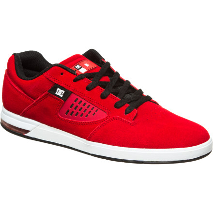 Skateboard The DC Centric S Kalis Skate Shoe combines a ventilated, low-pro upper and lightly padded tongue with a large heel airbag for serious shock absorption. End result: you get tons of comfort and board feel without bruising your heels on big drops. - $60.00