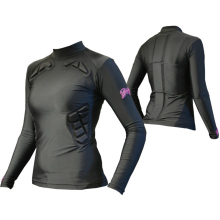 Snowboard The Demon Snow Women's SKINN Impact Top is high-performance wicking outerwear taken to the next level. Not only does it fit snugly and wick moisture away from your body to keep you dry and comfortable, but it incorporates collar bone and rib padding to protect you in the event of a fall. - $41.21