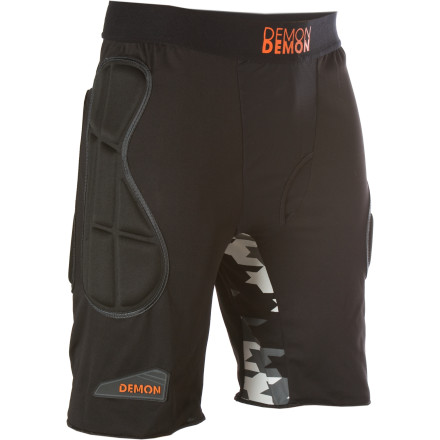 Snowboard The Demon Flex-Force X D3o Short Body Armor uses thermo-formed padding to protect your thigh and hip areas and innovative D3o material on the tailbone for maximum impact protection. - $69.95