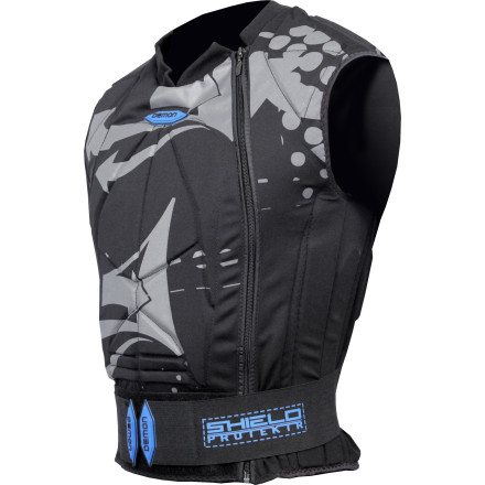 Snowboard Although the pain inflicted by taking a metal handrail to the chest might be someone else's idea of a good time, the Demon Snow Men's Shield Vest helps you reduce the damage just in case you're not one of these people. Lightweight and low profile, this vest offers vital core protection and burlier, hard-plastic shielding for your spine. Breathable synthetic material means you won't sweat like a pig while you session that booter, rail, or potentially damaging extreme-feature (yeah we just said extreme). - $109.95
