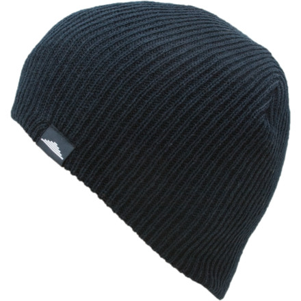 The Discrete Sigma Beanie has nothing to hide. No, it wasn't involved in some bank or convenience store holdup. The only thing it was doing at the time of such incidences was keeping your dome warm, while snow fell quietly all around you. - $7.98