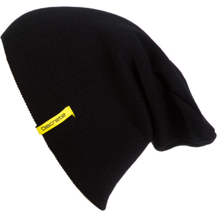The Discrete Doyonator Beanie would love to front flip a sixty foot cliff at night. Wear this beanie with the bottom folded up, watchcap-style or roll it down and floss it with a little extra room in the tip. Either way you'll be nice and warm when you line up a greasey 'sender somewhere in the Wasatch backcountry. - $9.87
