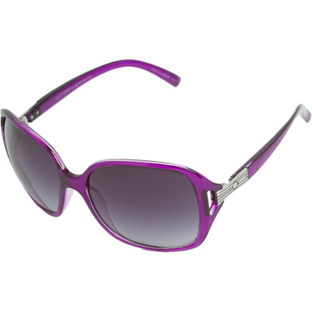Entertainment You have a certain aura about you, and the Dot Dash Aura is here to accent it. Ultra-fem styling and lightweight construction make the Aura perfect for navigating downtown or soaking up rays poolside. Gradient lenses, a transparent polycarbonate frame, and styled steel hinges complete this sassy pair of shades. - $26.96