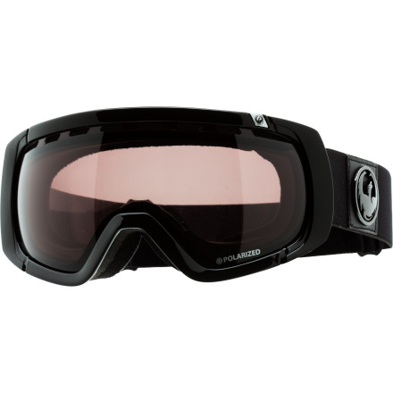 Snowboard Other goggles might accept the reality of glare, but the Dragon Rogue Goggle with polarized lens doesn't answer to the sun. A polarized coating turns the blinding glare from the snow into a pleasing light so you can actually see what you're shredding on bluebird days. Soft face foam, fog-busting top vents, and helmet-compatible outriggers complete the packageha, we said package. - $107.97