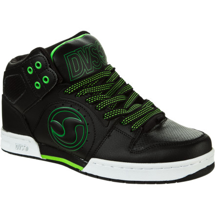 Skateboard High-flyin', rip-roarin' action will ensue after you lace up the DVS Aces High Top Skate Shoe. The Aces High has its sites set on all-day comfort and versatility and leaves behind a contrail of awesomeness everywhere it goes. - $47.97
