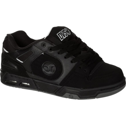 Skateboard The DVS Tracker Heir Skate Shoe is heir to the throne of the streets. This  beefed-up pavement crusher looks as good just kicking it as well as it does performing on the ol' longboard. - $71.96