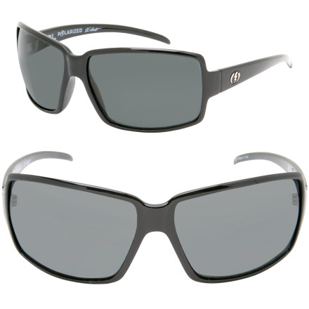 Entertainment Crank up the volume but turn down the glare with the Electric VOL. Polarized Sunglasses. These women's-specific shades glam out with thin frames and an over-sized design. Electric gave the VOL. Sunglasses polarized polycarbonate lenses to cut down on glare, which reduces strain on your eyes when you're chillin' on the sundeck. - $139.95