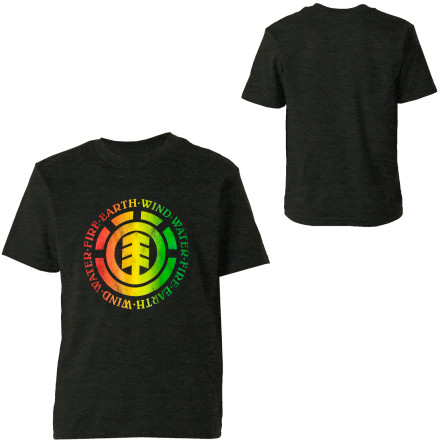 Skateboard Take fire, air, and earth then add water and stir; you'll end up with the Element Boys' Elemental Short-Sleeve T-Shirt. You might also want to add some cotton into the mix just to be sure. - $12.57