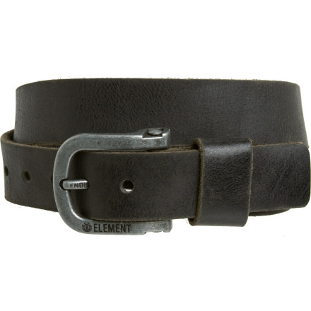 Skateboard Get rid of your plumber butt with the Element Men's Gravel Belt. Trust us, the ladies would much rather look at this leather belt than your crack. - $18.98
