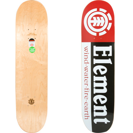 Skateboard Made from quality wood, sturdy Thriftwood construction, and the slightly longer nose of Element's shape #3, The Element Section Skate Deck is at home in the park and at your favorite street spots. - $39.96