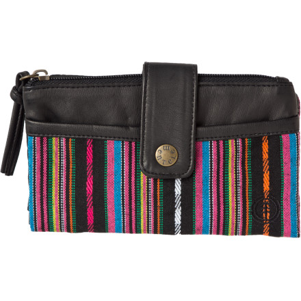 Entertainment Sheathe those weapons of mass consumptionyour credit cardsin the Element Women's Berreta Wallet. Their awesome power is disguised by this mild-mannered canvas checkbook wallet, whose zip top and snap detail gives it a classy look without giving anything away. - $14.73