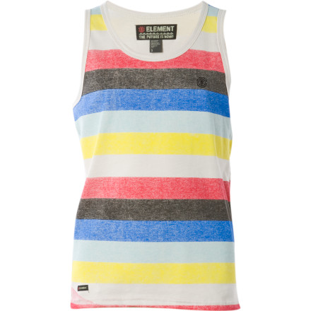 Surf If you're lucky enough to live where you can surf and skate every day, then you're destined to be stoked every day ... and to wear the Element Boys' Destin Tank Top. - $9.08