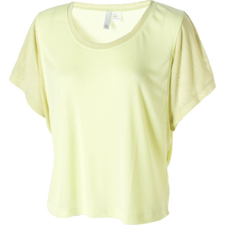 Skateboard Pull on the Element Fields Knit Top and pretend you're wearing dandelion fluff. This top feels light and ethereal thanks to its gauzy-soft poly-rayon fabric and airy, oversized fit. - $4.42