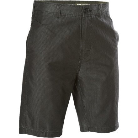 Surf The Element Men's Tactic Hybrid Board Short doesn't switch from electric to combustion mode, but it is designed for a life on land and in the water. Soft, comfortable cotton gives the Tactic Board Short its street feel while recycled polyester weaved into the fabric helps it dry quickly and reduce stretching. - $31.05