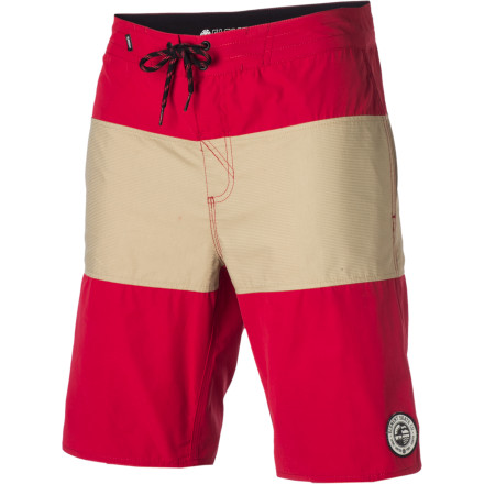 Surf The Element Divided Board Short rocks a retro stripe pattern and a 19-inch inseam that won't hang up on your knees while skating or surfing. - $30.77