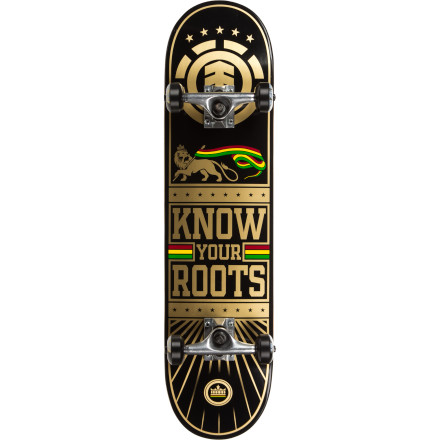 Skateboard After the Element Know Your Roots Complete Skateboard shows up at your door and you get over the initial bout of hyperventilation, take it out and practice some old-school tricks. Primo slides and ho-ho plants might not get you sponsored, but they sure are fun. - $89.96