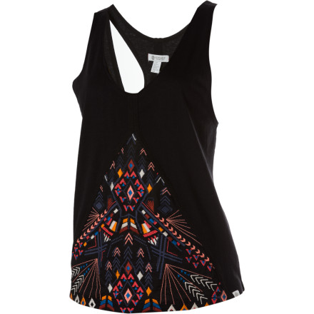 Skateboard The Element Women's Coralie Tank Top gives you a fashion-forward look and a modern silhouette. This top is great for nights out with the girls or dinners with the fam. - $24.12