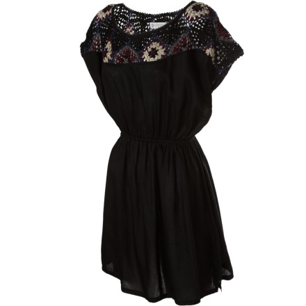 Entertainment Striking style achieved through dark colors and crochet detail, paired with a cozy cut and material, make the Element Mave Dress perfect for casual late-summer days spent strolling the town or making an excellent first impression. - $32.67