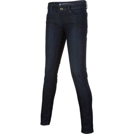 Hunting Hunting for jeans that really nail the 'form-fitting' look you're going for Well here you gothe Element Women's Ballet Legging Denim Pant. A touch of spandex gives the cotton fabric the flex you need to move around without feeling restricted, and from the skinny knee to the fitted seat, these jeans are all about hugging your body close and comfortably. - $29.73