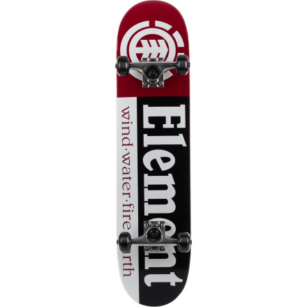 Skateboard Last time we rode Element Section Complete Skateboards, we saw all kinds of weird stufflike a horse riding its jockey down the road, and a chipmunk pushing a wheelbarrow full of tacos. - $99.95