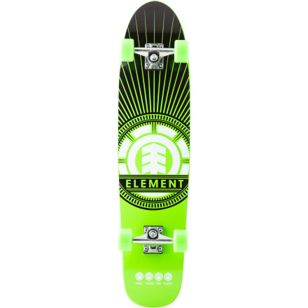 Skateboard Bomb the local neighborhood hills or just head out for some mellow cruising with the Element Sunburst Adder Complete Skateboard. - $124.95
