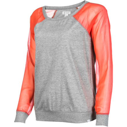 Skateboard The Element Women's Margo Long-Sleeve Shirt has a too-cool-to-care look that is relaxed and edgy. Shake things up and rock this top with a skirt and boots of a pair of leggings and heels. - $26.67