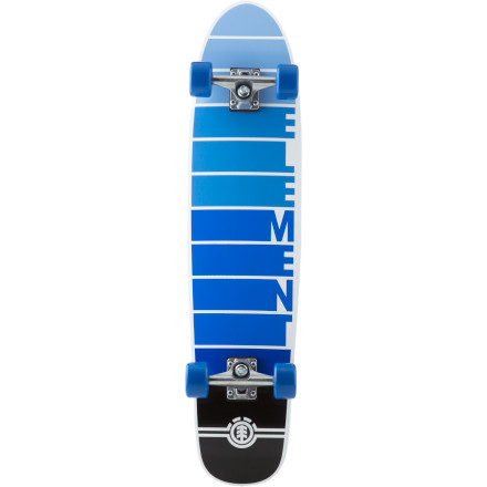 Skateboard With a shape capable of short board-like maneuvering and width and length that's stable enough to carry some serious speed, the Element Velocity Adder Complete Skateboard goes beyond just being a 'cruiser board.' - $124.95