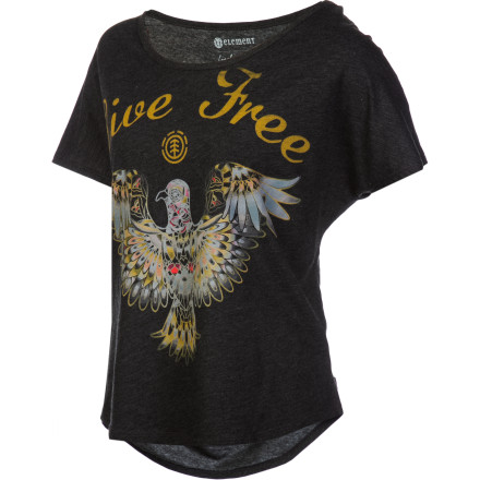 Skateboard Art isn't just for your wall or the corners of your homework anymore thanks to the Element Women's Angels Short-Sleeve Shirt. Think of this casual top as a piece of art with with a wearable frame. - $22.36