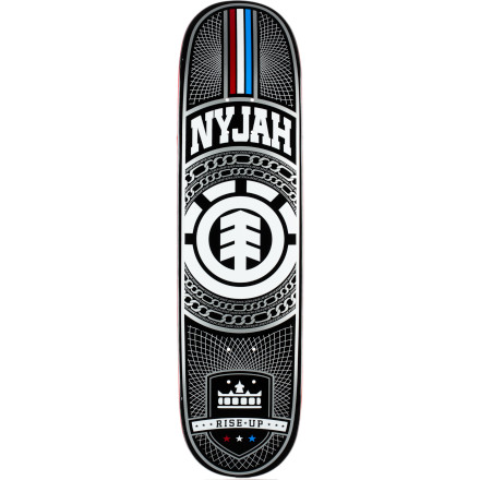 Skateboard If you're all about super tech, precise skating like Nyjah Huston's, then the Element Nyjah Chains Skate Deck is for you. It features a steep concave that keeps your feet gripped for ultimate control, and the maple construction makes it durable and light. - $36.37