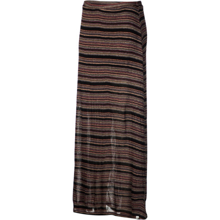 Skateboard If you're not sure what to wear, slip into the Element Melody Skirt then relish the dropped-jaw stare of your date. This high-waisted maxi skirt showcases your body and highlights your excellent sense of style so you can be confident that you're making a great first impression. - $42.03