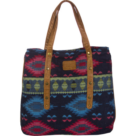 Skateboard Show off a little Southwestern flair to match the feather in your hair when you head out for the night with the Element Sybella Tote Bag. - $29.59