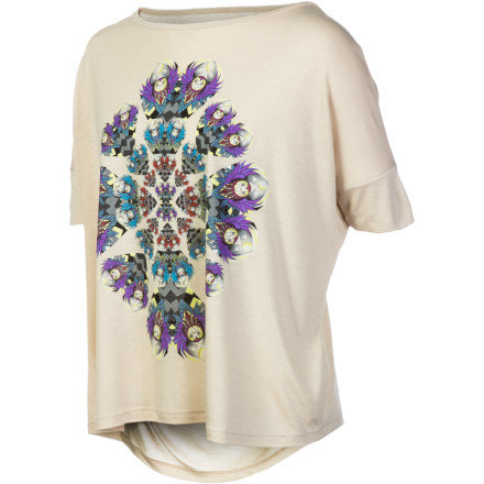Skateboard The Element Women's Oracle Dolman Short-Sleeve Shirt employs a focused cool print and a modern silhouette to help you create a cool, casual look that looks right whether you wear it with a skirt or your favorite pair of jeans. - $19.57