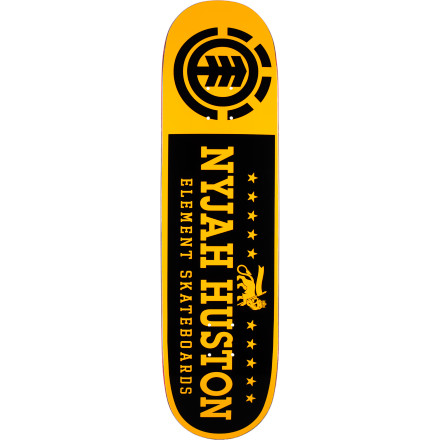Skateboard Ever wonder how Nyjah Huston pops insane flip tricks onto rails so effortlessly OK, most of it is just him being a superhuman freak of nature, but his Element Nyjah Pride Skate Deck certainly doesn't hurt. Featherlight construction makes it super light and snappy so you can get down like Nyjah (or at least try to). - $41.56