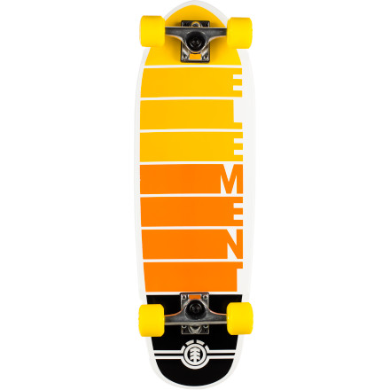 Skateboard The Element Velocity Mamba Complete Skateboard suffocates its concrete prey and carves it up with its quality components just before swallowing it whole. - $124.95