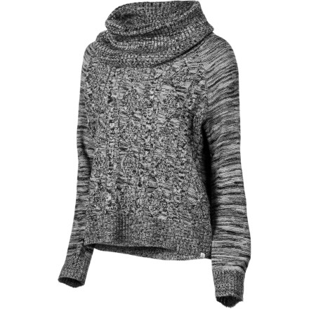 Skateboard The Element Women's Conifer Sweater drapes you in cozy warmth while you take a walk on the deserted boardwalk and breathe in the fresh ocean air. - $45.12
