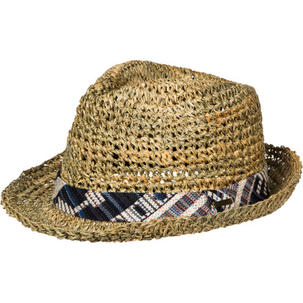 Skateboard You'll be waiting by the window for the sun to rise or spring to come in the casual-cool straw fedora Element Women's Evelyn Hat. This crushable classic protects the head from blinding, deadly sun, but also elevates any outfitT-shirt and jeans, simple tunic, or just a swimsuitwith super-sassy style. - $31.56