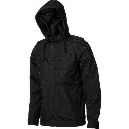 Skateboard The Element Sherman Jacket is what happens when your favorite military jacket and your favorite windbreaker have hot, steamy jacket sex and make a polyester baby. - $63.56
