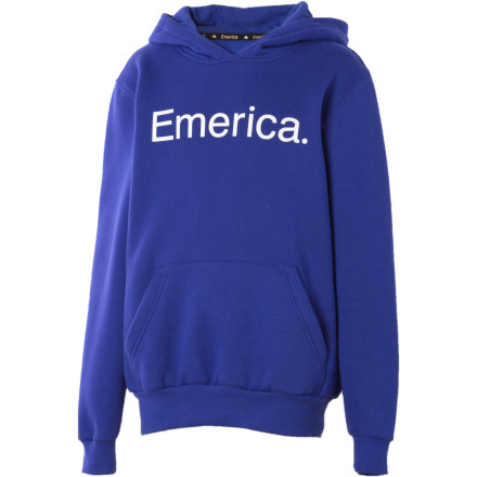 If you really love your kid and want him to be happy and successful in life, you'll buy him the Emerica Pure Solid Hooded Sweatshirt. (Pretty solid guilt trip, eh) - $27.57