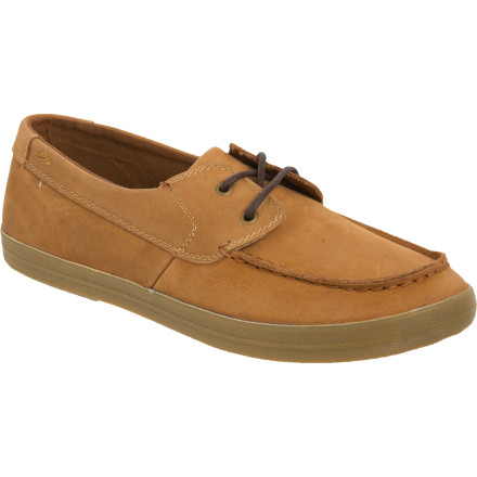 Skateboard The Emerica Seahuag Fusion Shoe is the skate-influenced version of the moccasin. Quality leather, Emerica's Fusion outsole, and style for days make the Seahaug the Don Juan of slip-ons. - $32.97