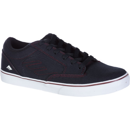 Skateboard The Emerica Jinx Skate Shoe has a clean, straightforward style that isn't clunky or clumsy so you'll look good whether you're standing in a corner at a campus party or hanging out at the skate park. - $44.96