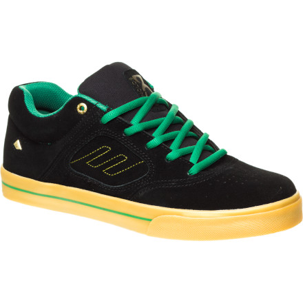 Skateboard Andrew Reynolds has been with both Emerica and Shake Junt from the beginning, so it only makes sense that their first collab was on the Reynolds 3 Skate Shoe. It's the same great Reynolds 3 you're used to, just in gold and green with Shake Junt accents to rep skateboarding's most notorious crew. - $47.97